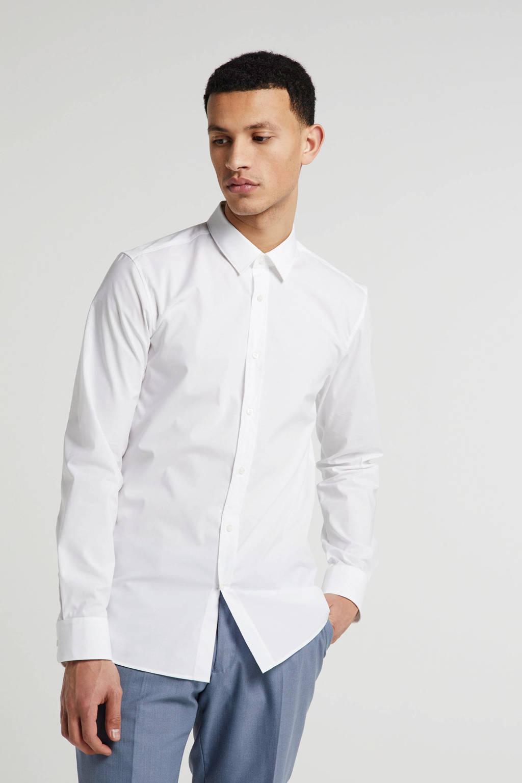 HUGO slim fit overhemd wit, Wit