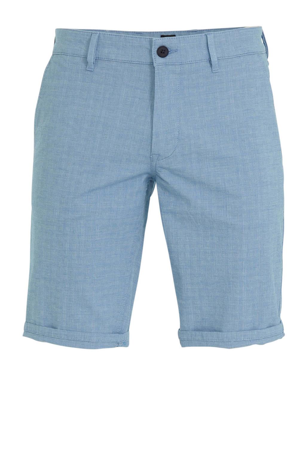 BOSS Casual gemêleerde slim fit bermuda Schino bright blue, Bright Blue