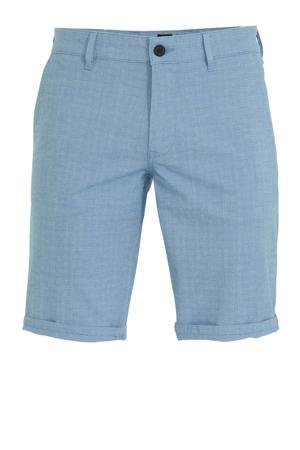 gemêleerde slim fit bermuda Schino bright blue