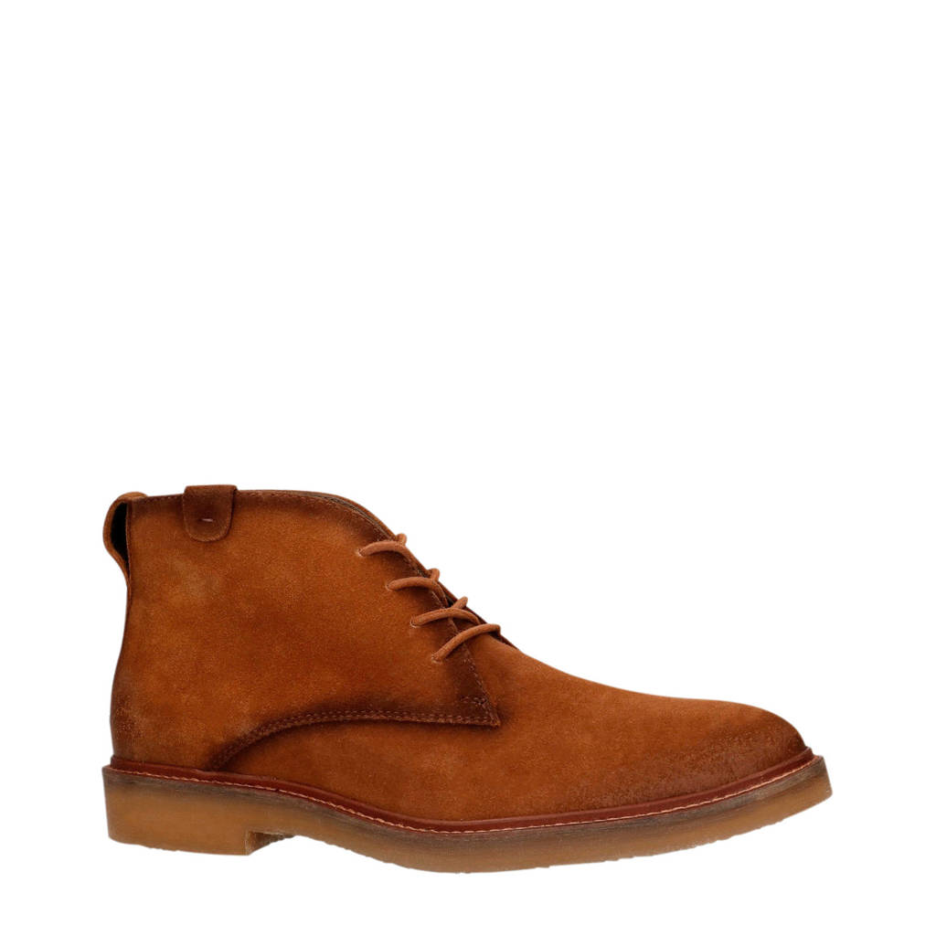 Sacha   suède desert boots cognac, Cognac