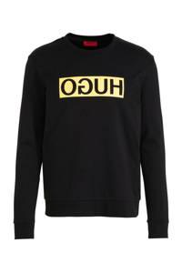 HUGO sweater met logo zwart, Zwart