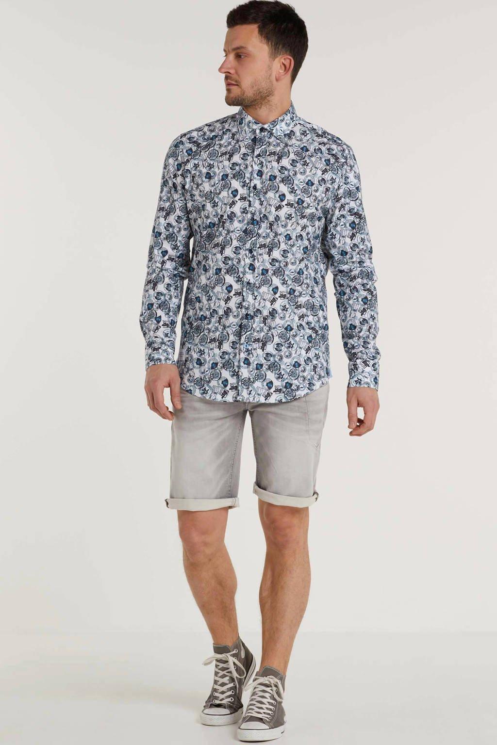 PME Legend regular fit jeans short grijs, Grijs
