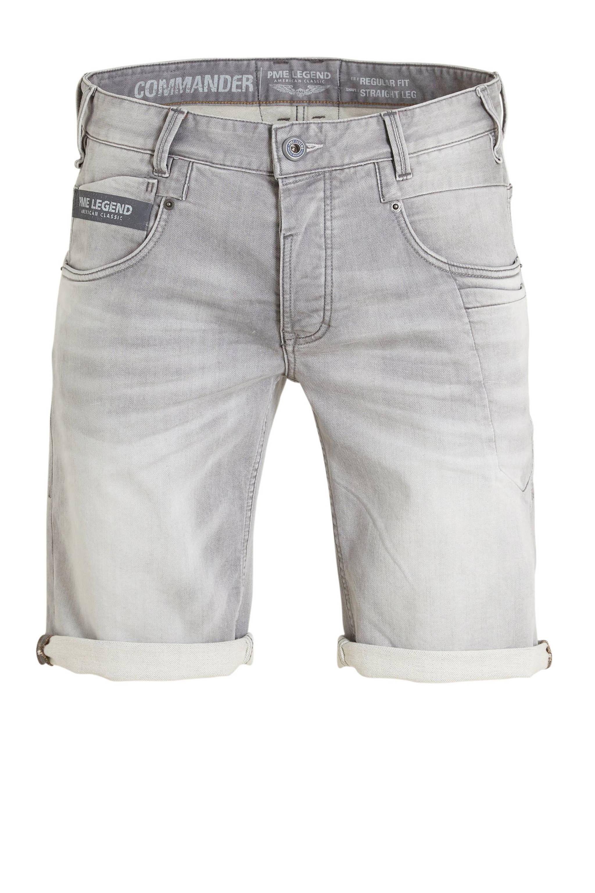 pme legend regular fit jeans short grijs grijs 8719419286371 - Pme Korte Broek Heren Sale