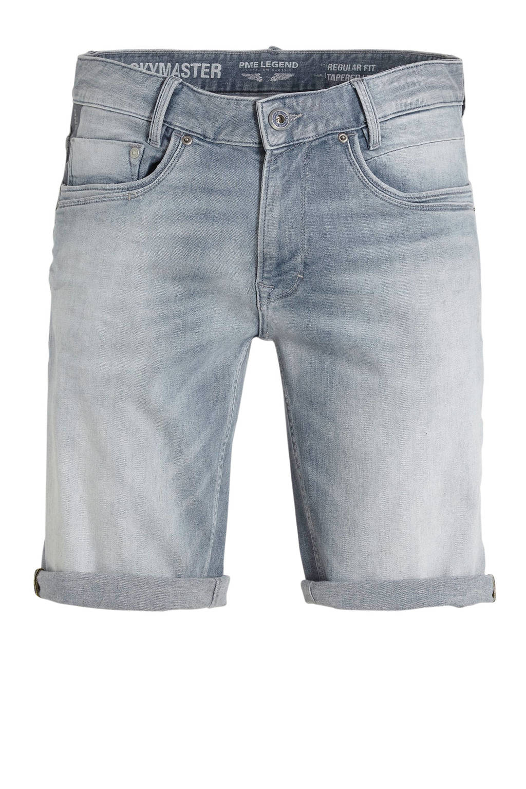 PME Legend regular fit jeans short grijs, Grijs