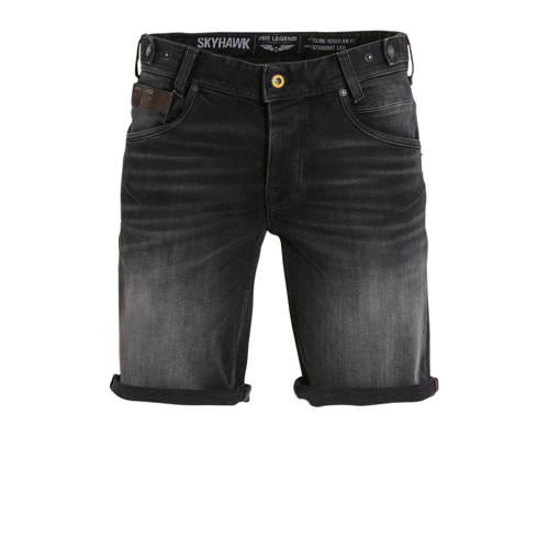 PME Legend regular fit jeans short zwart
