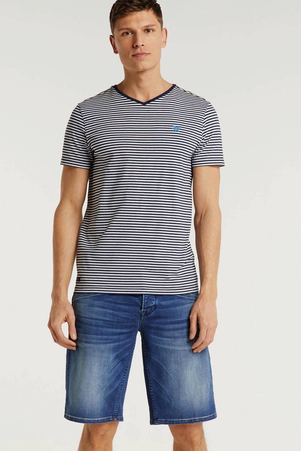 PME Legend regular fit jeans short blauw, Blauw