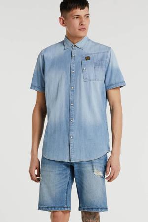 regular fit denim overhemd light denim