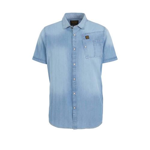 PME Legend regular fit denim overhemd light denim
