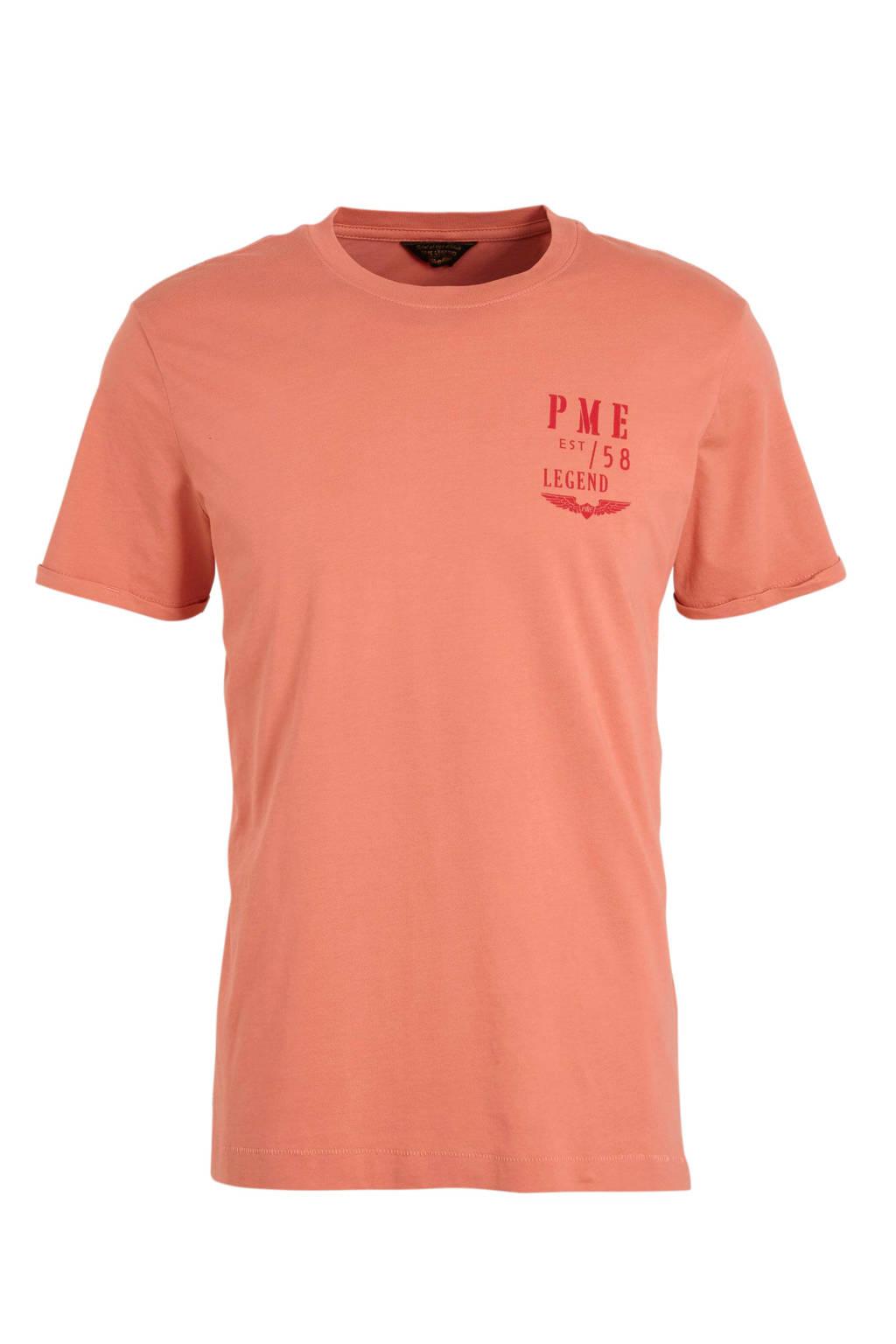 PME Legend T-shirt met logo roze, Roze