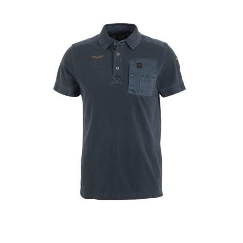 PME Legend regular fit polo grijsblauw
