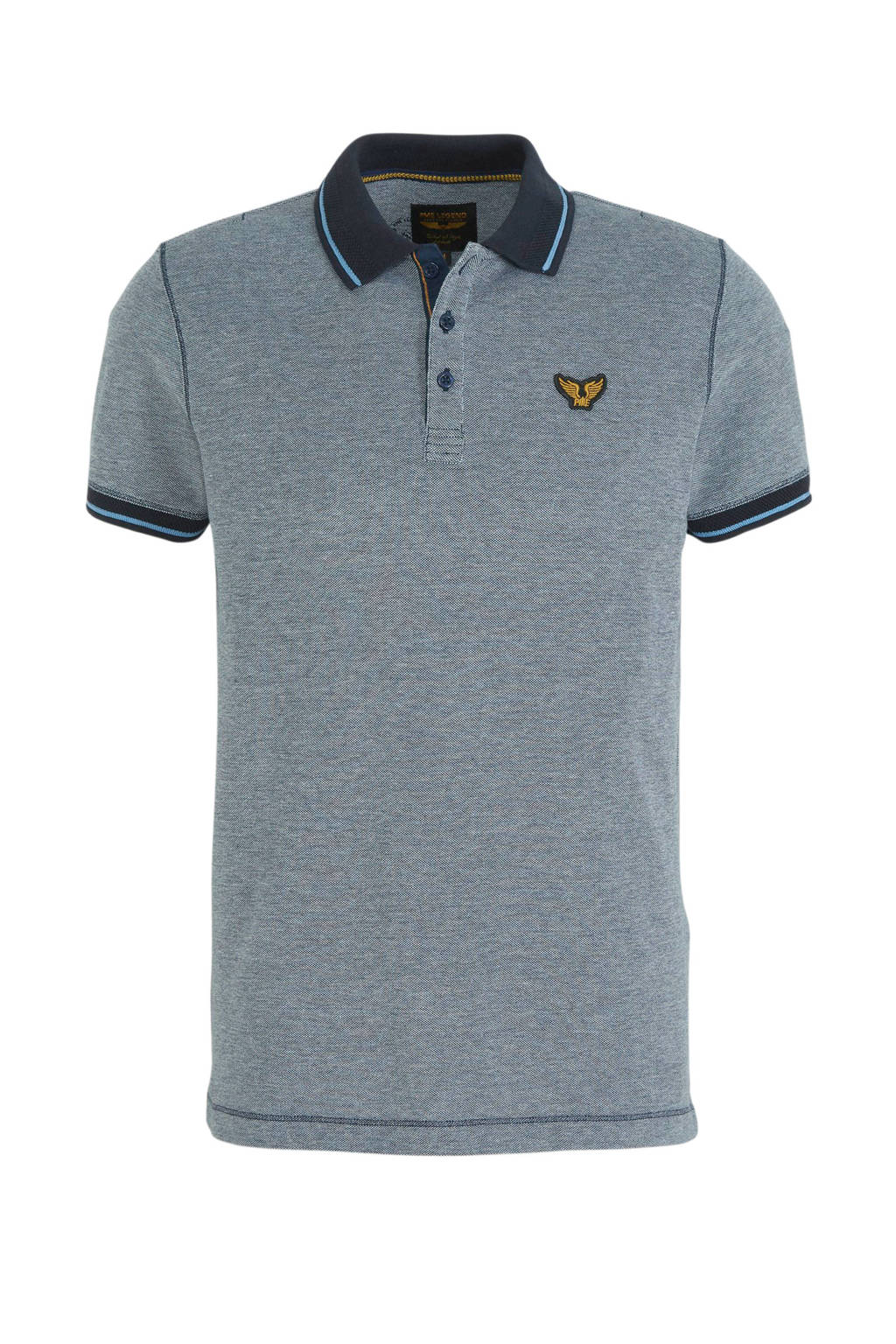 PME Legend slim fit polo grijs, Grijs