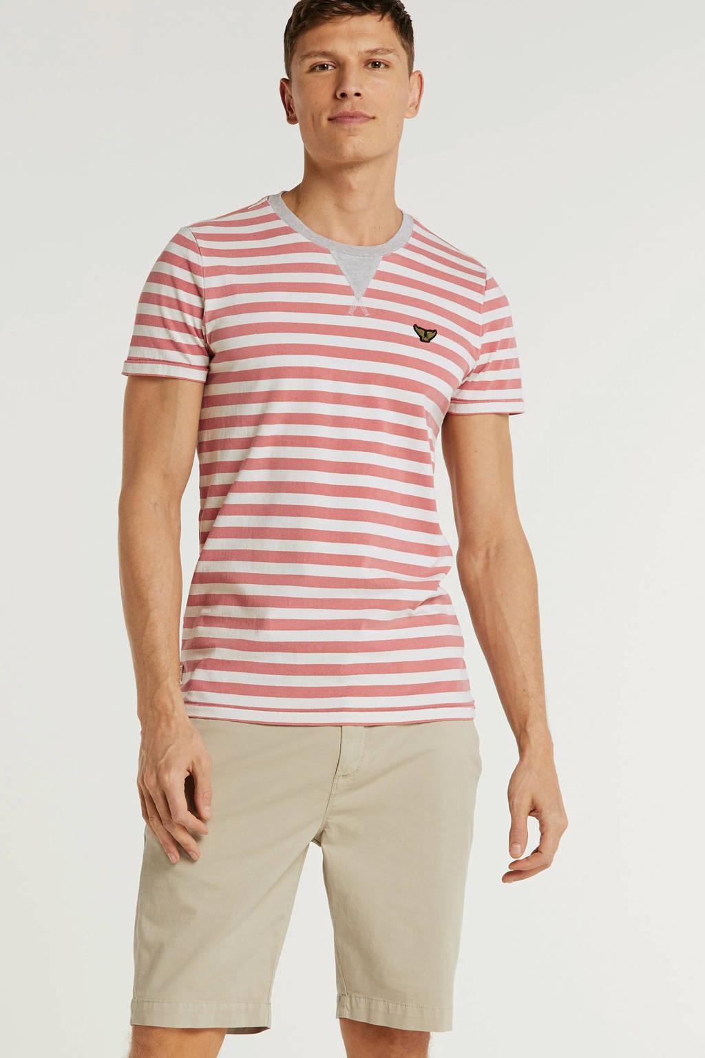 PME Legend gestreept T-shirt rood, Rood