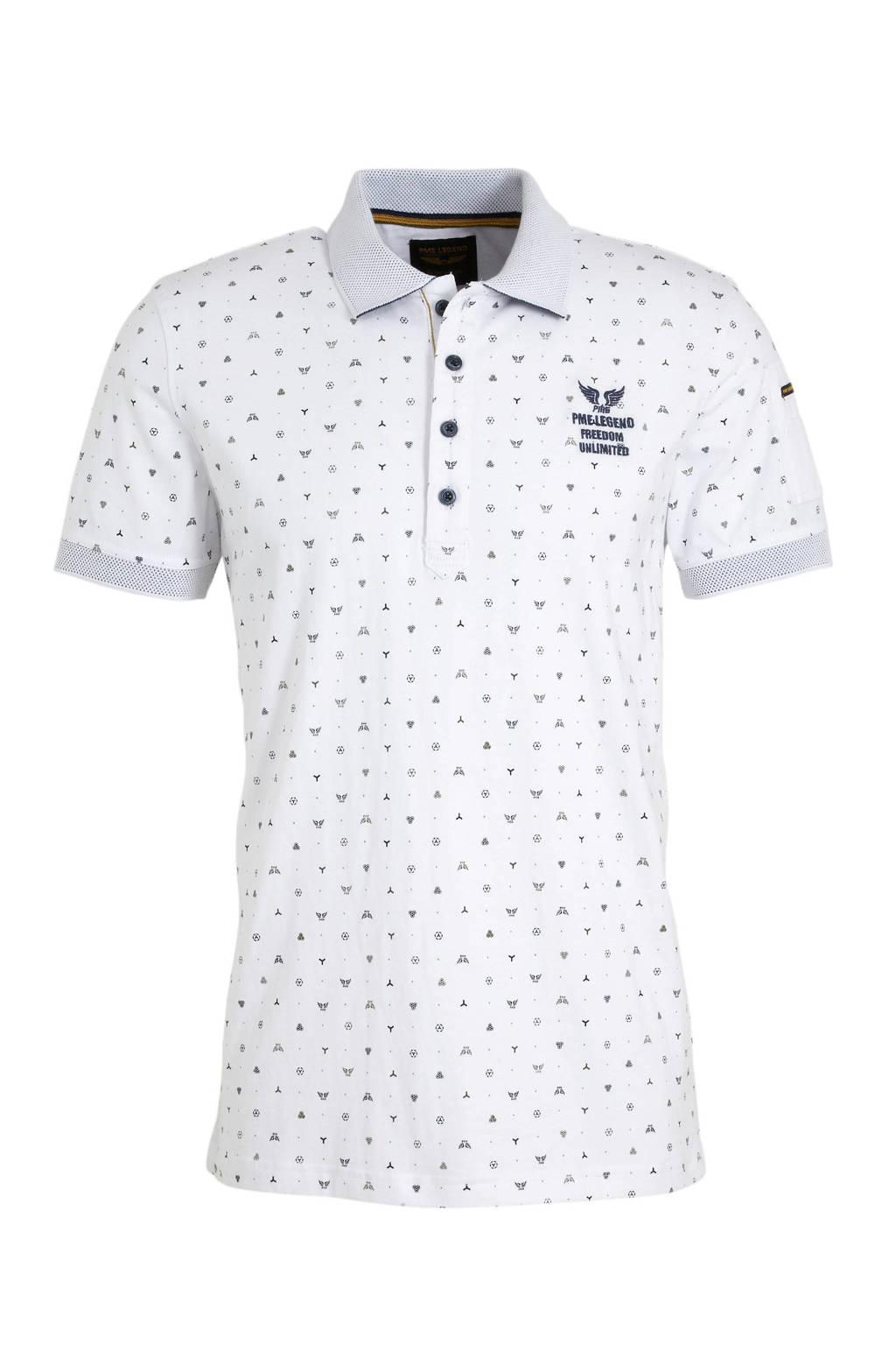 PME Legend polo, Wit/zwart