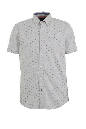 regular fit overhemd grijs