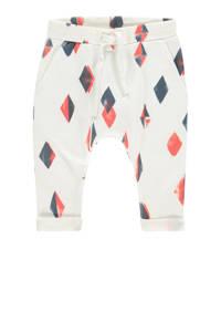 IMPS&ELFS baby broek Pella van biologisch katoen wit/antraciet/rood, Wit/antraciet/rood