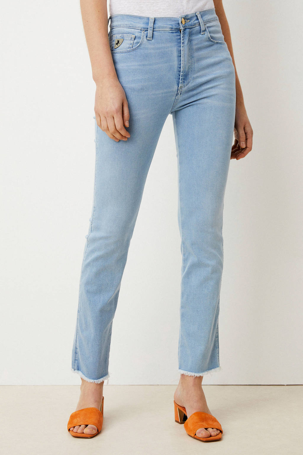 Lois high waist straight fit jeans light denim, Light denim