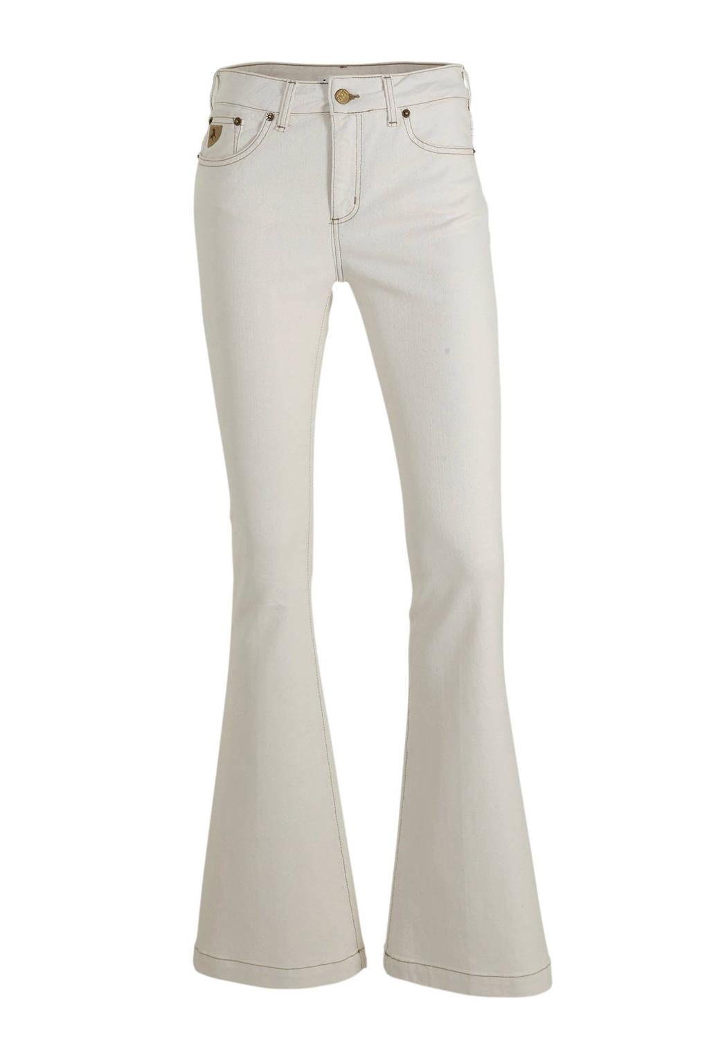 Lois low waist flared jeans wit, Wit