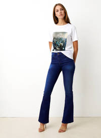 Lois flared jeans donkerblauw, Donkerblauw