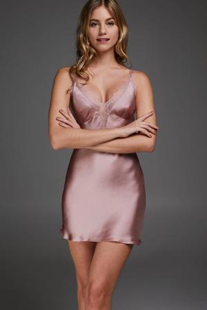 slipdress Satin Lily roze