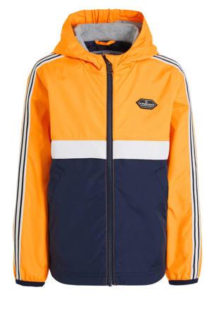 zomerjas Trast oranje/donkerblauw/wit