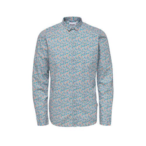 ONLY & SONS gebloemd slim fit overhemd bright