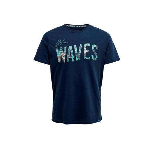 ONLY & SONS T-shirt met printopdruk donkerblau