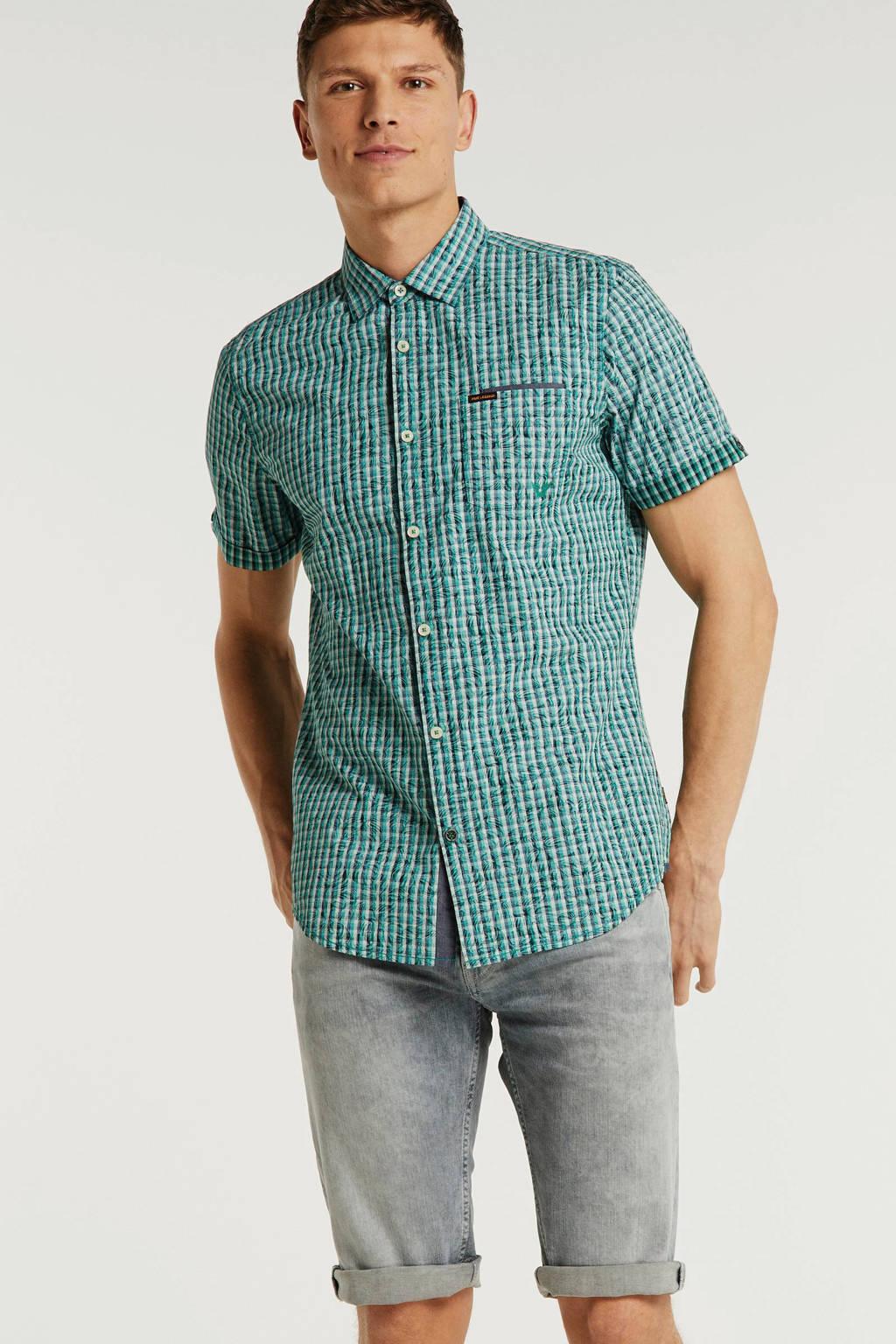 PME Legend regular fit overhemd groen, Groen