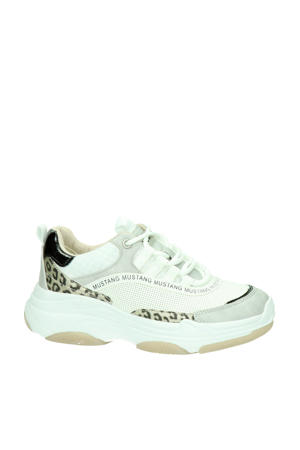 chunky sneakers wit/panterprint