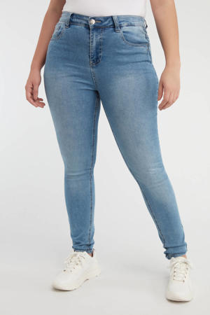 high waist skinny jeans lichtblauw