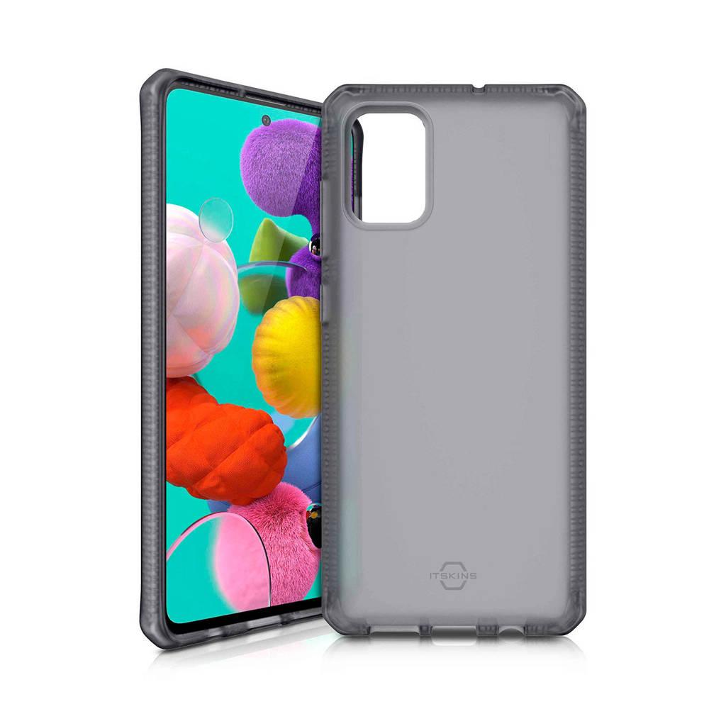 ITSkins backcover Samsung  Galaxy A51 (transparant zwart), Zwart