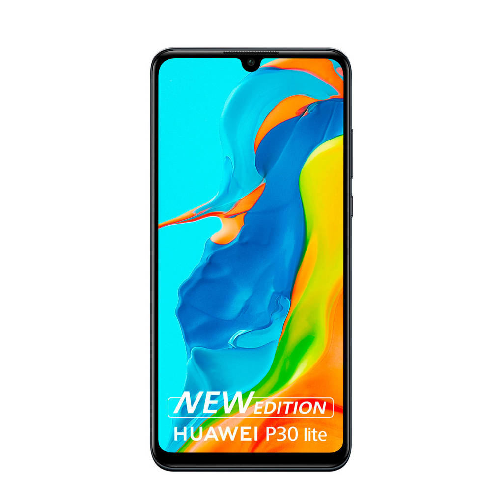 Huawei P30 lite New Edition smartphone Midnight Black, N.v.t.