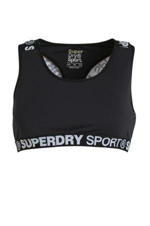 level 4 sportbh zwart/wit