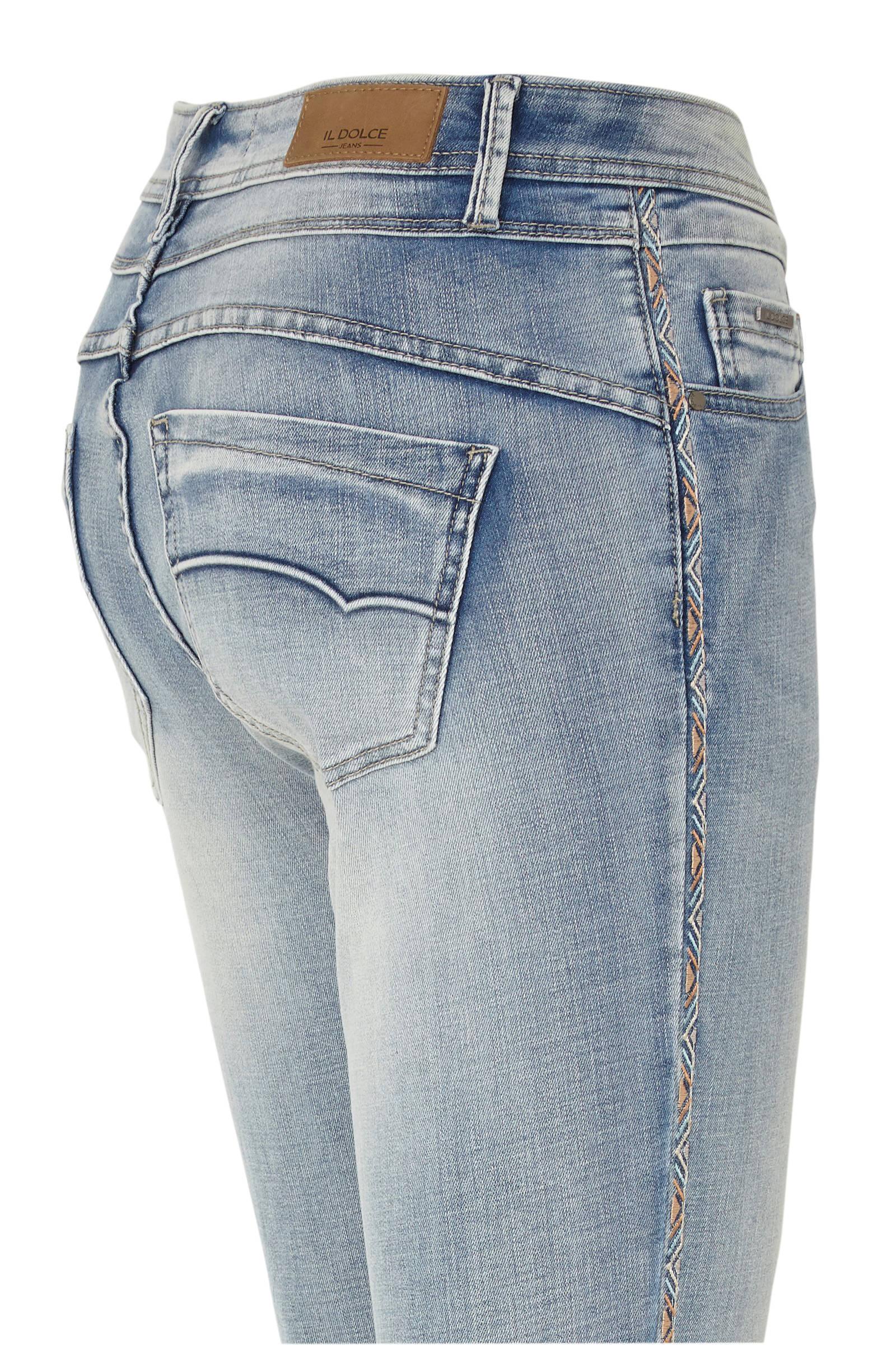 Il Dolce skinny jeans Ruby lichtblauw | wehkamp