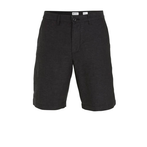 GAP regular fit bermuda met linnen antraciet