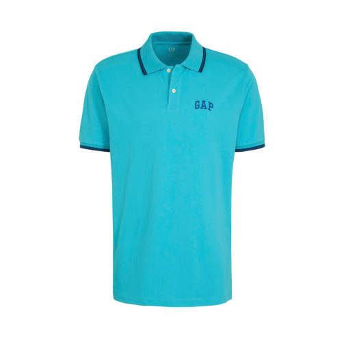 GAP slim fit polo met logo tuquoise pool