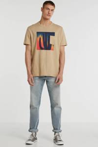 GAP T-shirt met printopdruk bruin, Bruin