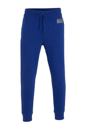regular fit joggingbroek met logo blauw