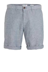 GAP regular fit bermuda met linnen grijsblauw, Grijsblauw