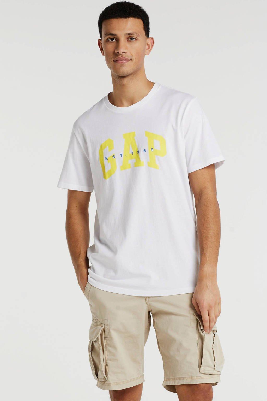 GAP T-shirt met logo wit, Wit