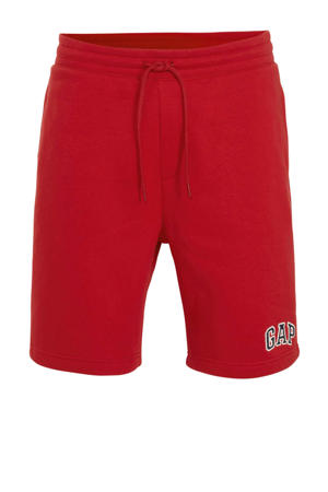 regular fit sweatshort rood