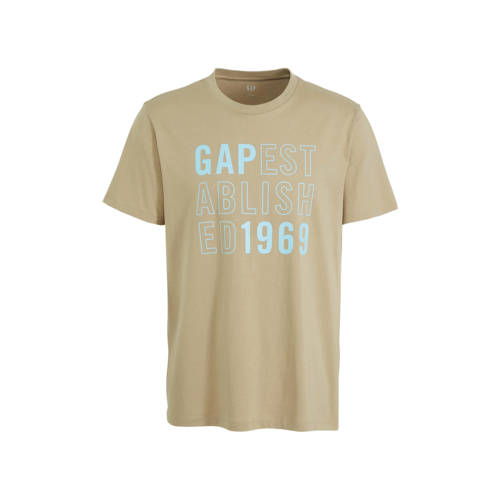 GAP T-shirt met tekst beige