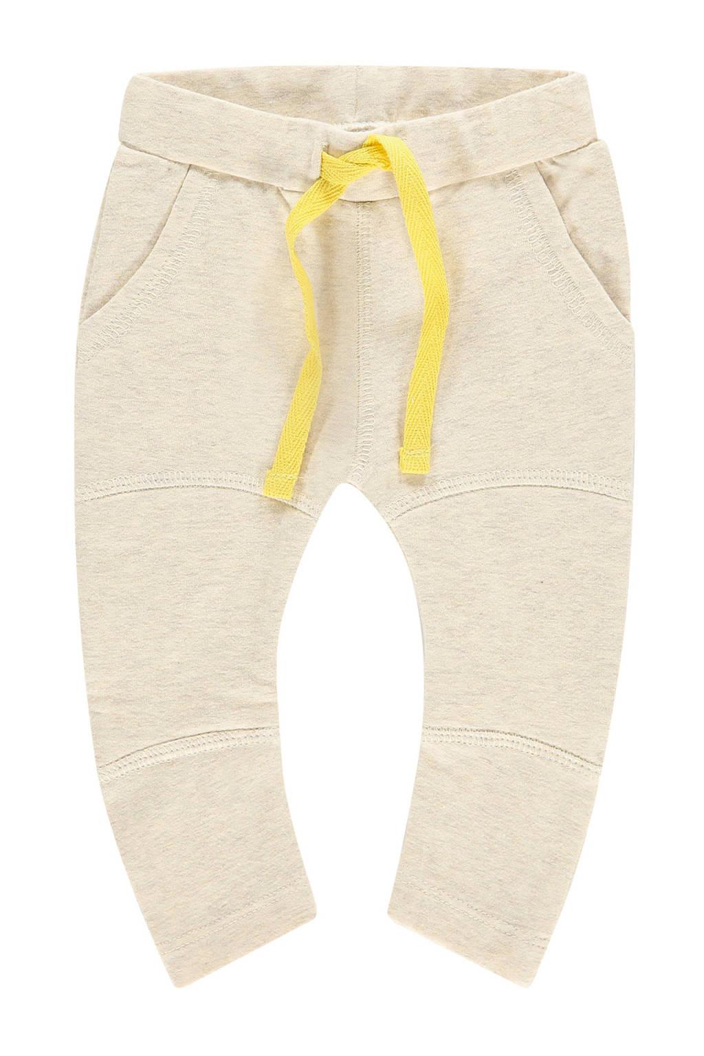 IMPS&ELFS baby slim fit broek Wolomoulo met biologisch katoen ecru/geel, Ecru/geel