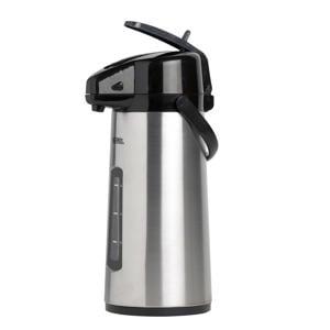thermoskan met pomp & venster 2.2 liter