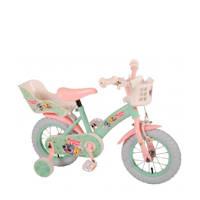 Woezel & Pip  12 inch meisjesfiets, Mintgroen/roze