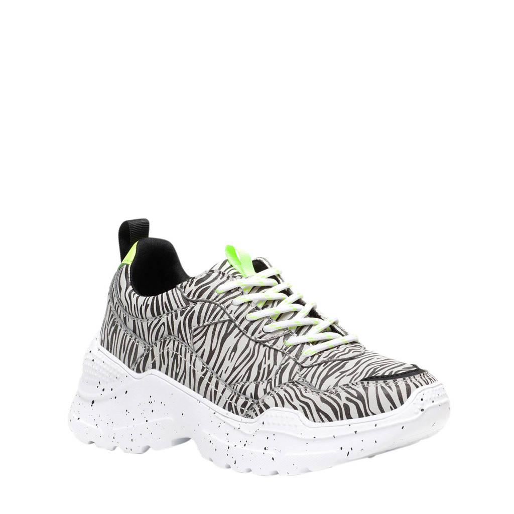 Scapino Blue Box   chunky sneakers zebraprint, Zwart/wit