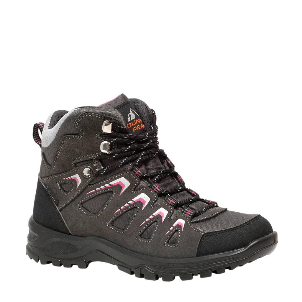 Scapino Mountain Peak   leren wandelschoenen roze/grijs, Roze/grijs