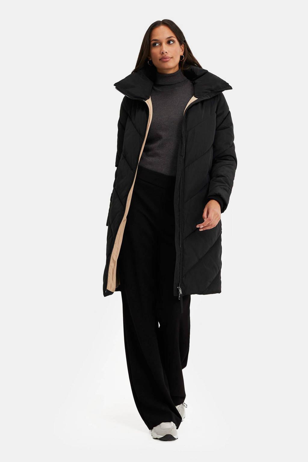 WE Fashion gewatteerde jas black uni, Black Uni