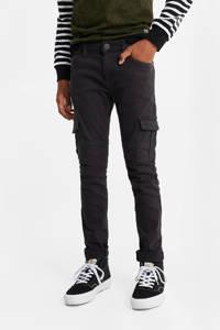 WE Fashion Blue Ridge skinny broek zwart, Zwart