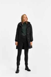 WE Fashion parka jas zwart, Zwart