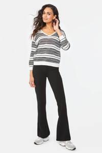 WE Fashion gestreepte fijngebreide trui wit/zwart, Wit/zwart